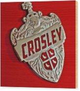 1951 Crosley Hood Emblem Wood Print