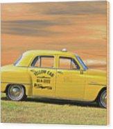 1951 Plymouth Sedan 'yellow Cab' Wood Print