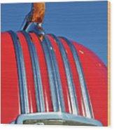 1951 Pontiac Chief Hood Ornament 2 Wood Print by Jill Reger