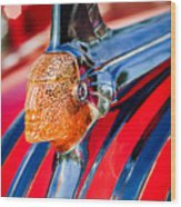 1951 Pontiac Chief Hood Ornament Wood Print
