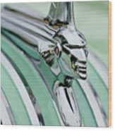 1951 Pontiac Streamliner Hood Ornament 3 Wood Print