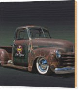 1951 Rusty Chevrolet Pickup Truck Wood Print