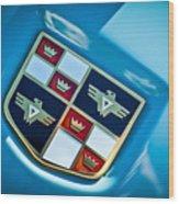 1951 Studebaker Hood Emblem Wood Print