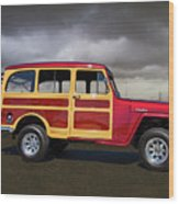 1951 Willy's Jeepster Wood Print
