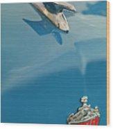 1952 Crosley Super Woody Wagon Hood Ornament Wood Print