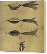1952 Fish Lure Patent Wood Print