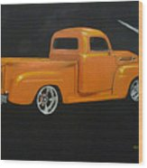 1952 Ford Pickup Custom Wood Print