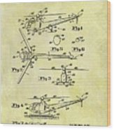 1952 Helicopter Patent Wood Print