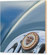 1952 Jaguar Hood Ornament Wood Print