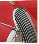 1952 Jaguar Xk 120 Grille Emblem Wood Print