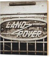 1952 Land Rover 80 Grille  Emblem -0988s2 Wood Print