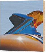 1952 Pontiac Tin Woodie Wagon Hood Ornament 2 Wood Print