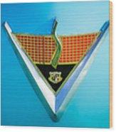 1952 Studebaker Emblem Wood Print