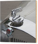 1952 Triumph Renown Limosine Radiator Cap Wood Print