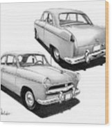 1952 Willys  Wood Print