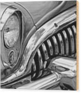 1953 Buick Chrome Bw Wood Print