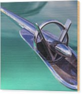 1953 Buick Super Hood Ornament Wood Print