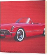1953 Corvette Classic Vintage Sports Car Automotive Art Wood Print