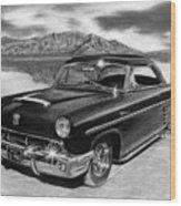 1953 Mercury Monterey On Bonneville Wood Print by Peter Piatt