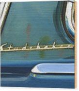 1953 Studebaker Champion Starliner Abstract Wood Print