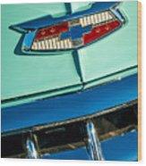 1954 Chevrolet Belair Emblem Wood Print