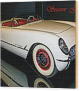 1954 Chevrolet Corvette Convertible Wood Print