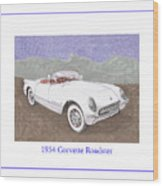 1954 Corvette Roadster Wood Print