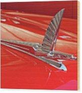 1954 Ford Cresline Sunliner Hood Ornament 2 Wood Print
