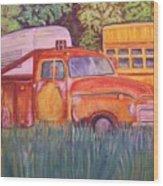 1954 Gmc Wrecker Truck Wood Print