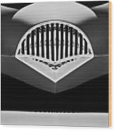 1954 Kaiser Darrin Grille Black And White Wood Print