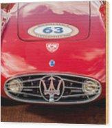 1954 Maserati A6 Gcs Grille -0255c Wood Print