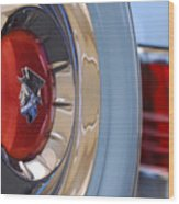 1954 Mercury Monterey Merco Matic Spare Tire Wood Print