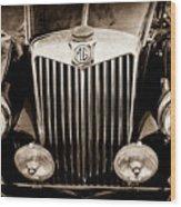 1954 Mg Tf Grille Emblem -0165s Wood Print
