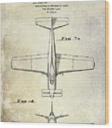 1955  Airplane Patent Drawing 2 Wood Print
