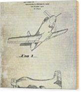1955  Airplane Patent Drawing Wood Print