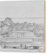 1955 Chevrolet 210 Classic Car Art Print Wood Print