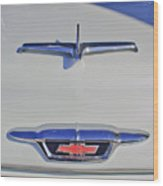 1955 Chevrolet 3100 Hood Ornament Wood Print
