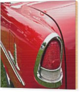 1955 Chevrolet Bel Air Tail Light Wood Print