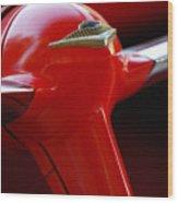 1955 Chevrolet Belair Nomad Steering Wheel 2 Wood Print