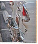 1955 Chevrolet Belair Tail Lights Wood Print