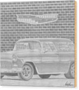 1955 Chevrolet Nomad Classic Car Art Print Wood Print
