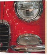 1955 Chevy Bel Air Headlight Wood Print