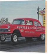 1955 Chevy Gasser Wood Print