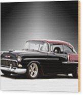 1955 Chvrolet Bel Air 'nor Cal Style' II Wood Print