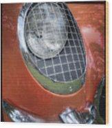 1955 Corvette Headlight Detail Wood Print