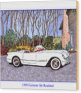 1955 Corvette Six Roadster Wood Print