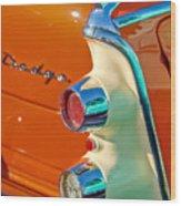 1955 Dodge Coronet Tail Light Emblem -0086c Wood Print