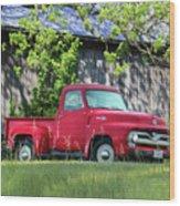 1955 Ford F100 Truck Wood Print