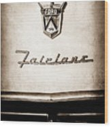 1955 Ford Fairlane Crown Victoria Emblem -1713s Wood Print
