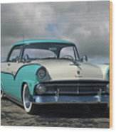 1955 Ford Fairlane Victoria Wood Print
